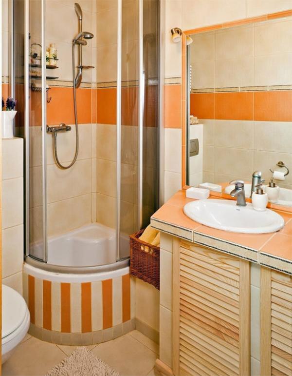 Очень маленькая ванная комната с душевой кабиной дизайн