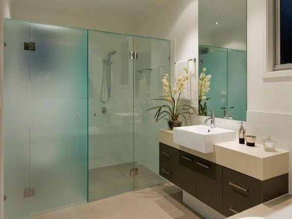 Ванные комнаты стеклянные освещение ванной комнаты светодиодными