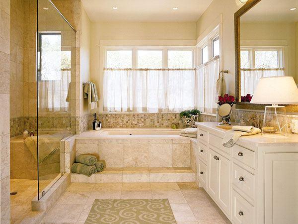 Большие ванные комнаты с окном дизайн фото