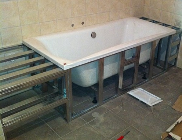 Экран для ванной своими руками из панелей