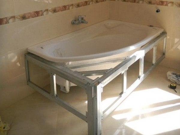 Металлический каркас для ванной комнаты своими руками 53