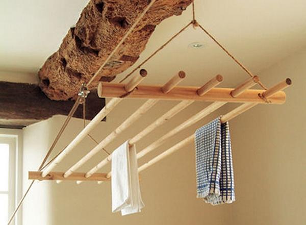 Как сделать вешалку на балкон для белья