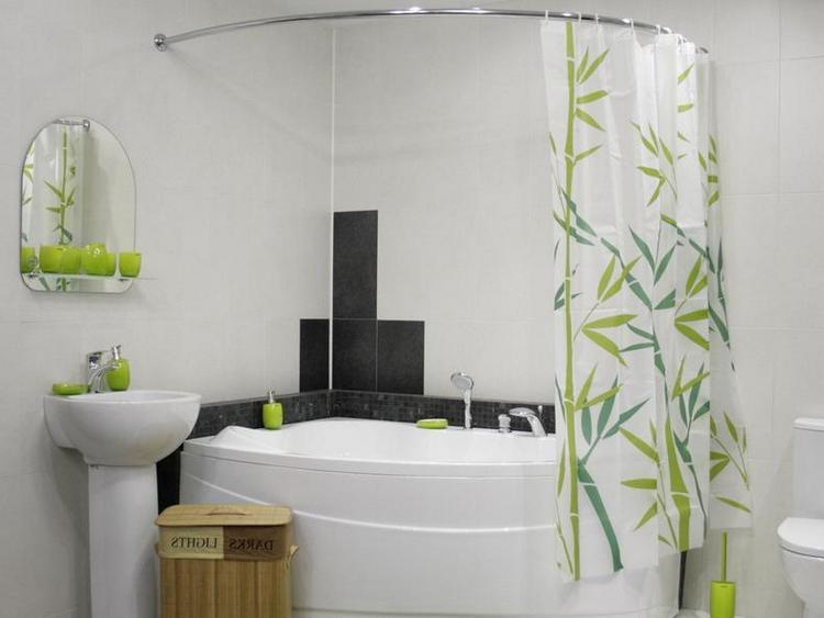 Шторы для угловой ванны
