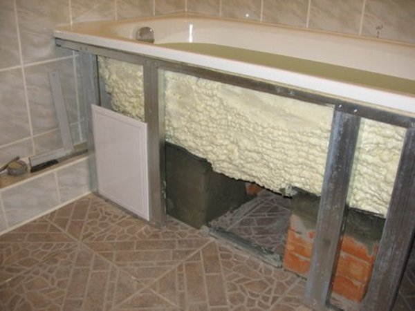 Короба под ванной своими руками