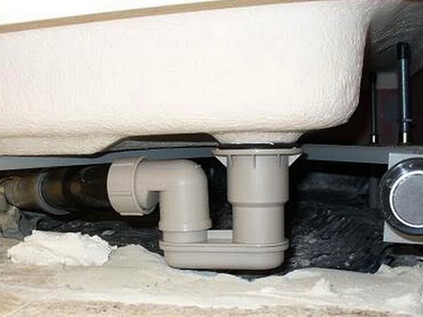 канализация на душевую кабину фото