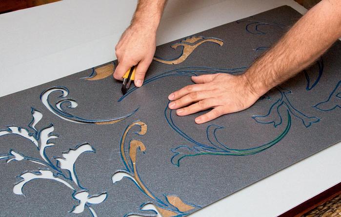 Как сделать трафарет для окраски стен где в питере делают наливные полы