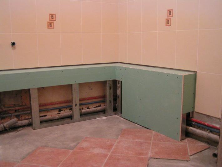Потолок в ванной комнате из пластиковых панелей 40