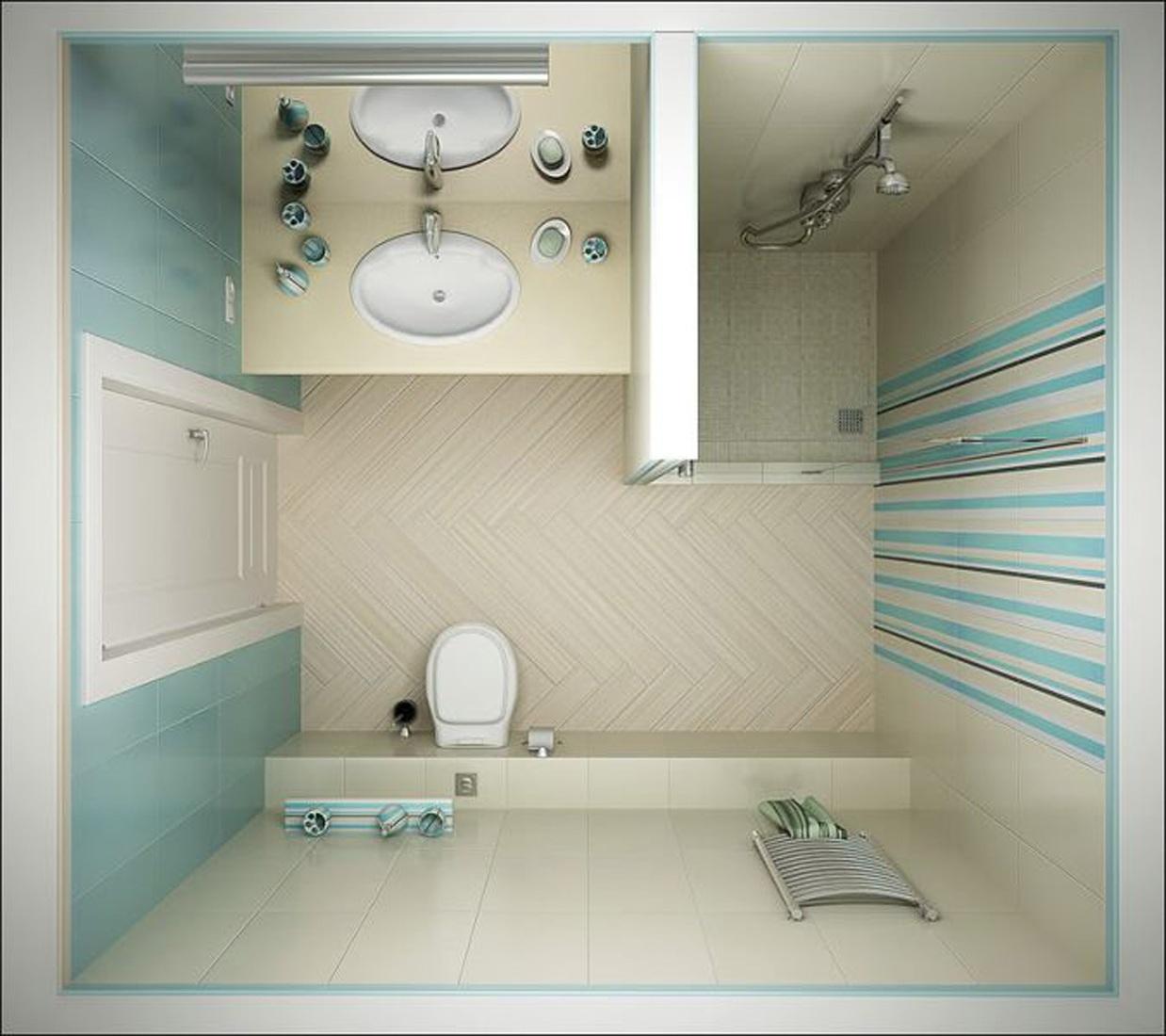 Душевая кабина в маленькой ванной комнате дизайн и