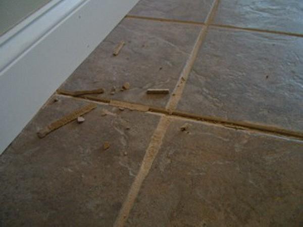 Repair floor tile grout