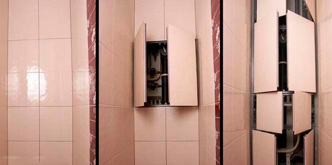 сантехнический люк под плитку размеры