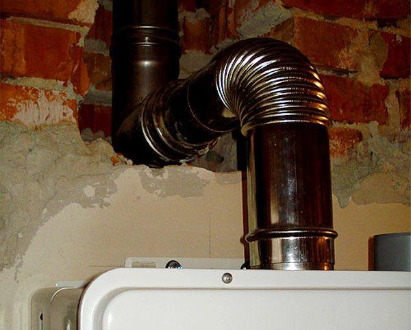 Труба дымохода газовой колонки в квартире облицовка каминов кладка