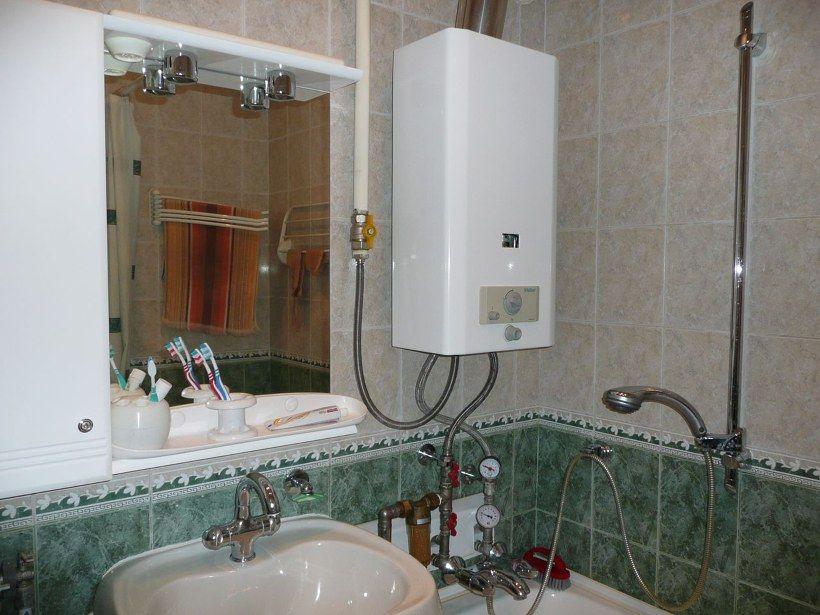 Дизайн ванной в сталинке с газовой колонкой
