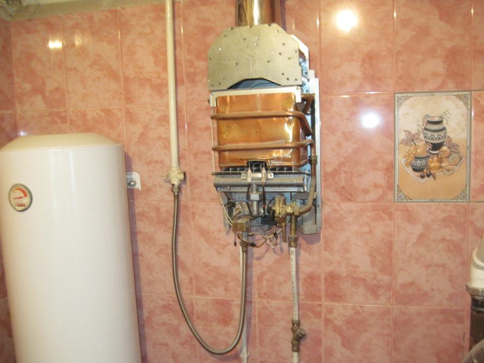 Установка газового водонагревателя своими руками 337