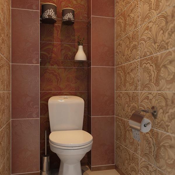 Фото дизайн туалета керамической плиткой