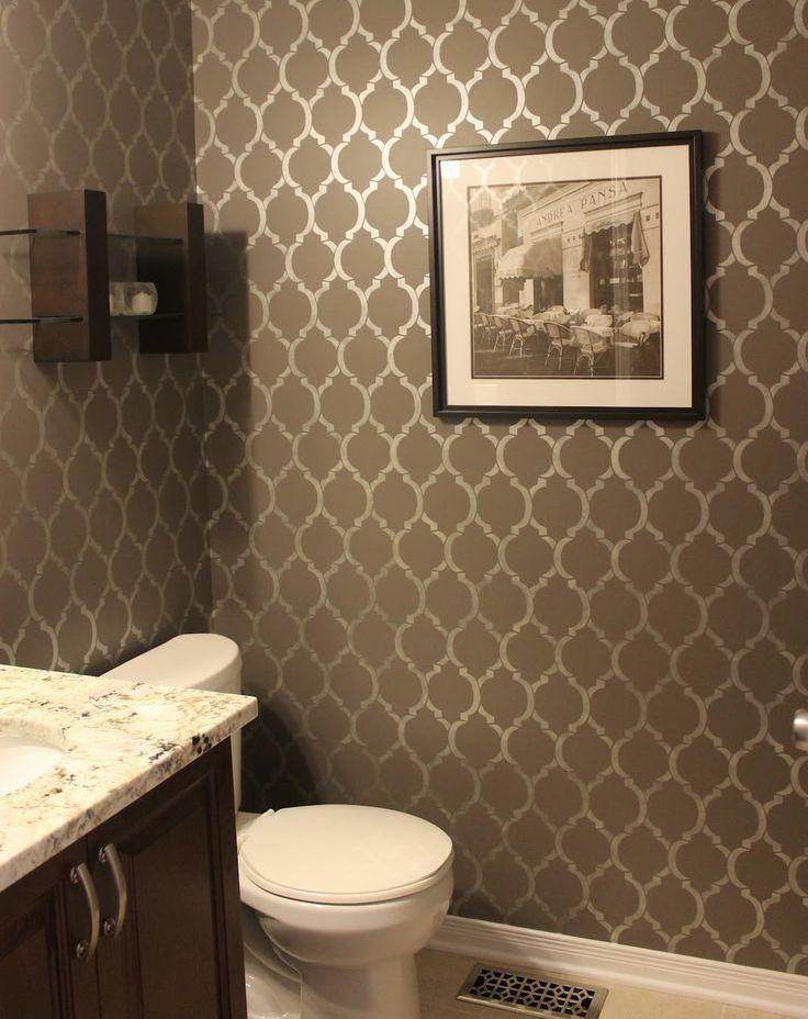 дизайн туалета с обоями фото