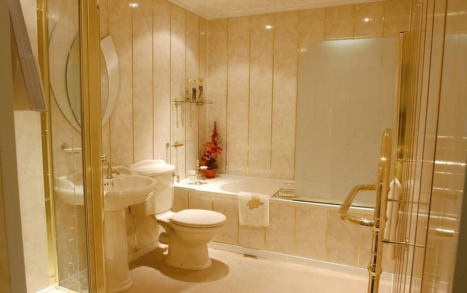 Дизайн ванной комнаты с панели пвх