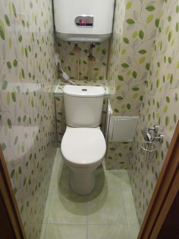 ремонт в туалете фото пластиковыми панелями