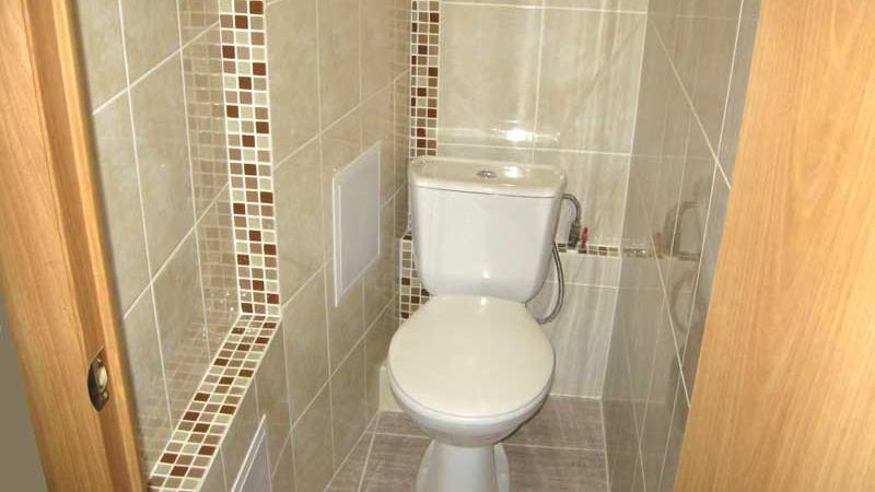 Как туалет сделать кафелем