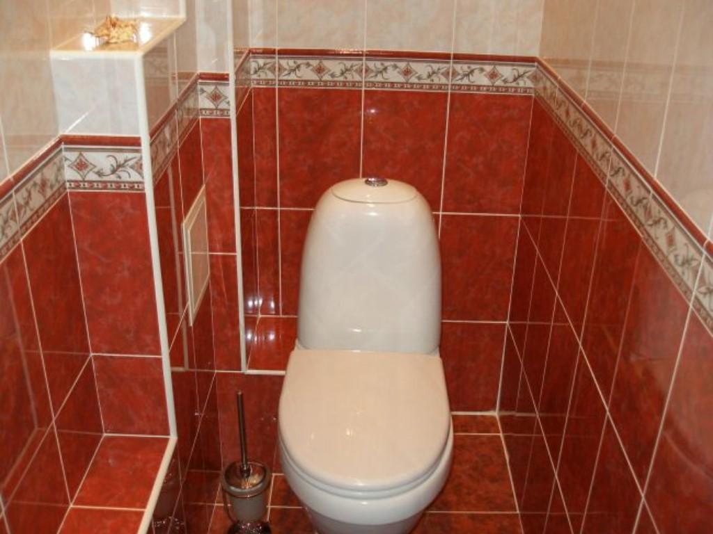 Дизайн плитки в маленьком туалете