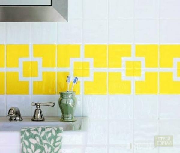 Плитка на стену в ванную комнату своими руками 93