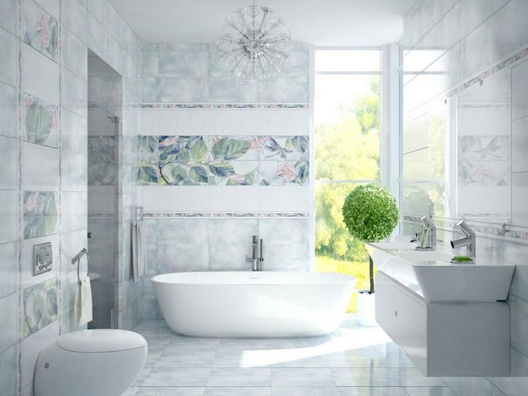 Интерьер ванной комнаты уралкерамика Шторка на ванну Cezares ECO-O-VF-2-170/145-C-Cr стекло прозрачное