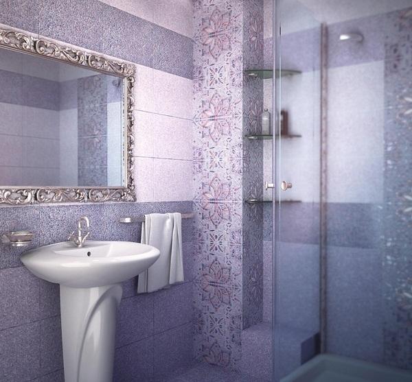 Интерьер ванной комнаты уралкерамика Душевая дверь в нишу Vegas Glass EP-F-2 0160 01 01 R профиль белый, стекло прозрачное