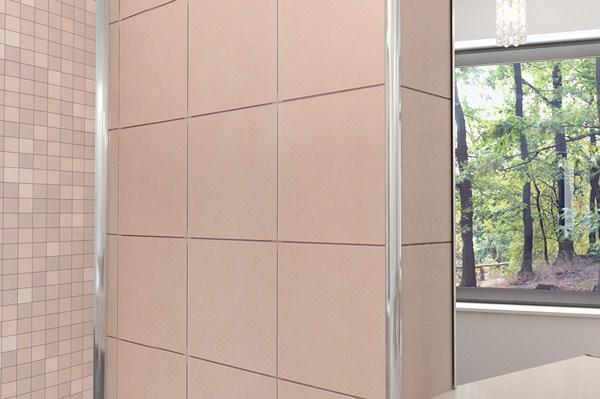 Ceramic tile edge trim installation