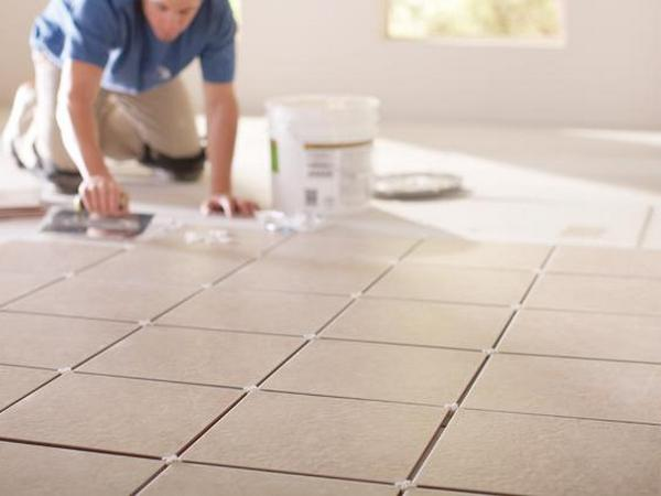 Replacing broken floor tile