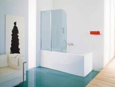 Душевой уголок, совмещенный с ванной