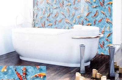 Пленка самоклеющаяся в ванной