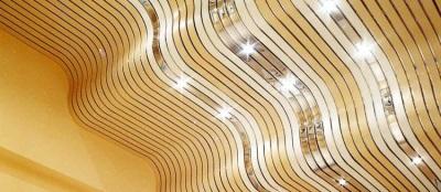 Речный потолок в ванной из алюминия