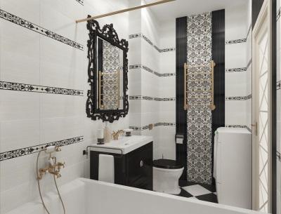Маленькая ванная комната с зеркалом