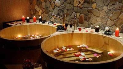 Офуро в ванной японского стиля
