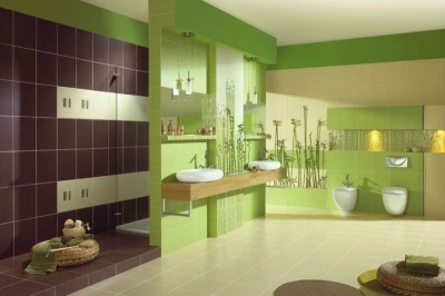 Зелено-фиолетовая ванная