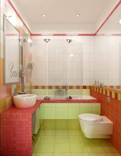Ванная с минимумом мебели