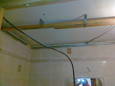 Монтаж навесного потолка