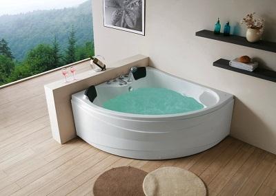 ванна акриловая угловая с гидромассажем