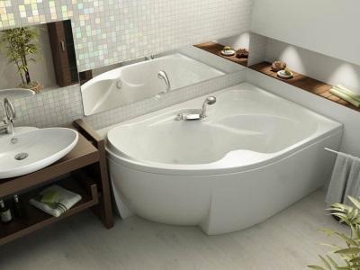 Угловые ванны асимметричного профиля