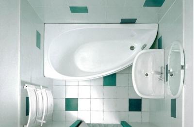 Акриловая ассиметричная ванна