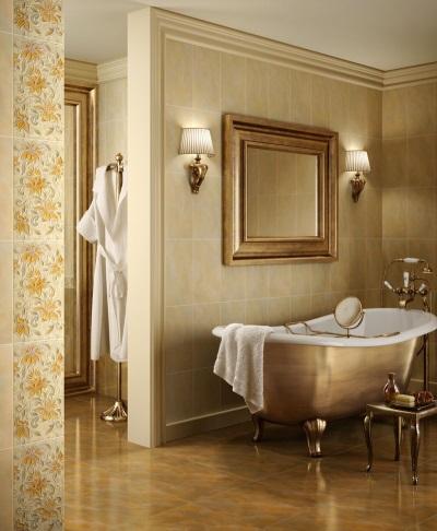 Бежевая с медным ванная