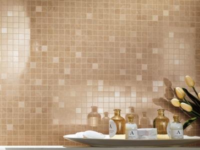 Бежевая ванная мозаика
