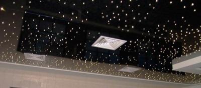 потолок с эффектом звездного неба в ванной