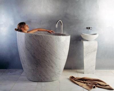 Вертикальная ванна как офуро в ванной