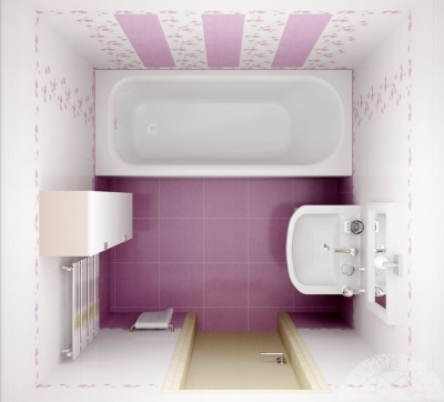 Дизайн совмещенной ванной 4 кв. м.