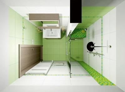 Планировка ванной 4 кв. м.