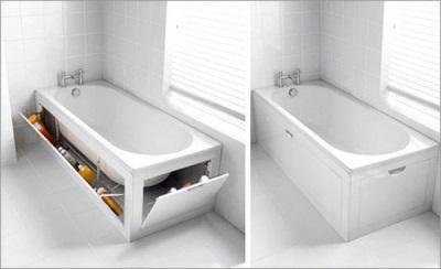 Экраны для ванны стильные белые