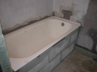Экран под ванну из пазогребневых плит