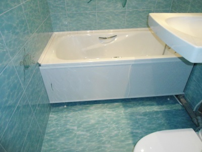 сплошной экран для ванны