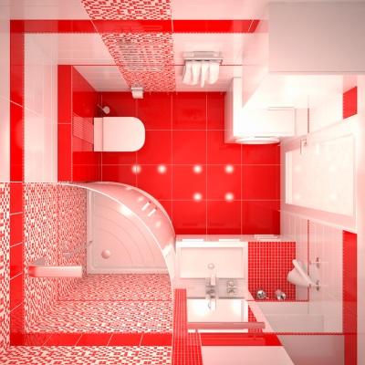 Красная небольшая ванная