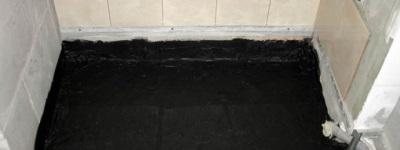 Литая гидроизоляция битумом ванной комнаты